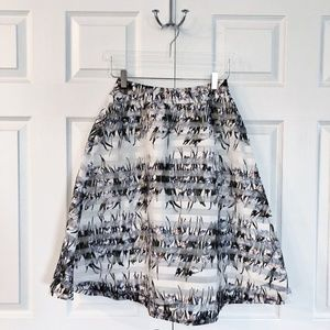 J.O.A. Los Angeles Floral Striped A-line Skirt